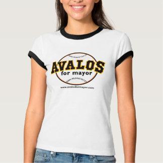 Avalos for Mayor - Ladies Baseball TShirt