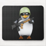 avances del soldado del pingüino 3d tapete de ratones