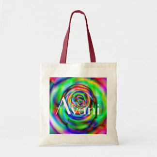 Avani Colorful Rose Budget Tote Canvas Bags