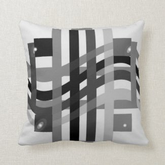 Avant Garde Striped Pillow in Shades of Gray