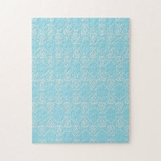 Avante Garde blue pink Jigsaw Puzzle