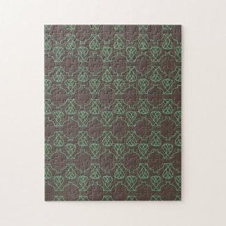 Avante Garde brown green Puzzles