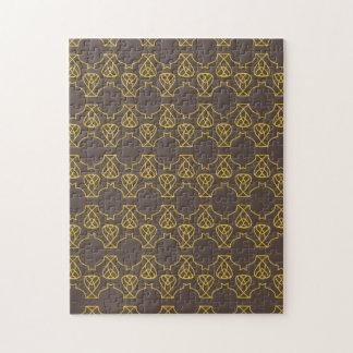 Avante Garde brown yellow Jigsaw Puzzles