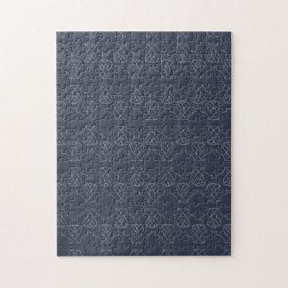 Avante Garde deep purple blue Puzzle