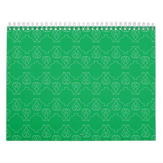 Avante Garde green Wall Calendar