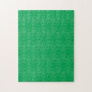 Avante Garde green Jigsaw Puzzle
