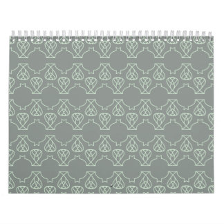 Avante Garde grey mint Wall Calendars