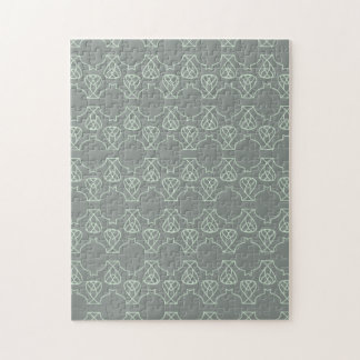 Avante Garde grey mint Jigsaw Puzzle