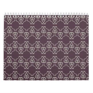 Avante Garde purple mint Wall Calendar