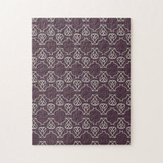 Avante Garde purple mint Jigsaw Puzzles