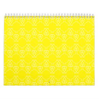 Avante Garde yellow Wall Calendars