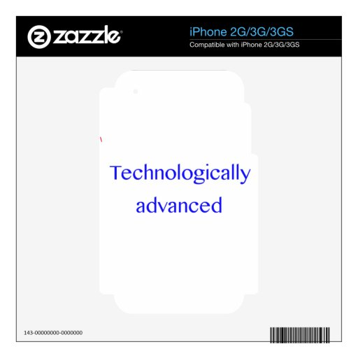 avanzado tecnológico skin para el iPhone 3GS