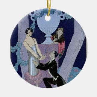 Avarice, 1924 (pochoir print) ceramic ornament