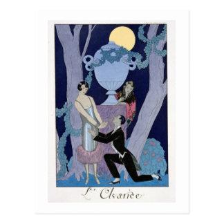 Avarice, 1924 (pochoir print) postcard