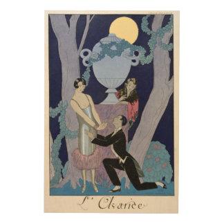 Avarice, 1924 (pochoir print) wood wall decor