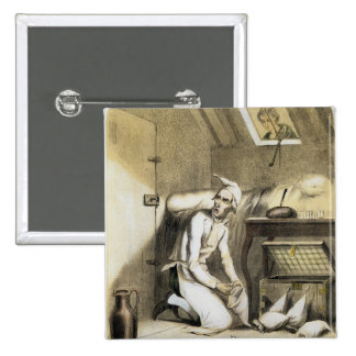 Avarice in the Kitchen, from a series of prints de Pinback Button