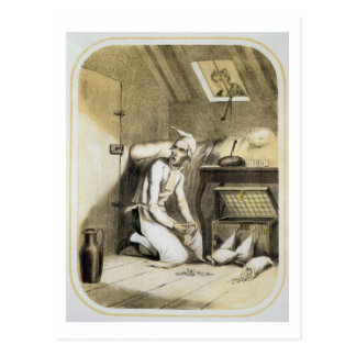 Avarice in the Kitchen, from a series of prints de Postcard
