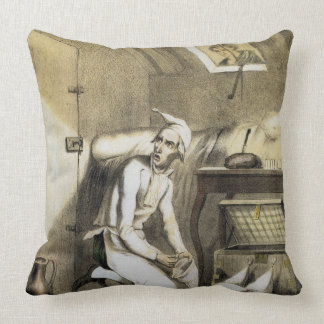 Avarice in the Kitchen, from a series of prints de Throw Pillow