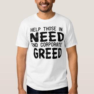 Avaricia corporativa del final - donación 100% remeras
