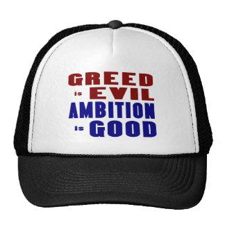 Avaricia y ambición gorras