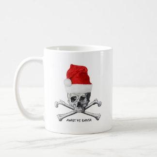 Avast Ye Santa Holiday Pirate Skull Coffee Mug