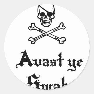 Avast Ye Swab Classic Round Sticker