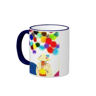 avatar asiático del gorra del arroz de chai del taza de dos colores
