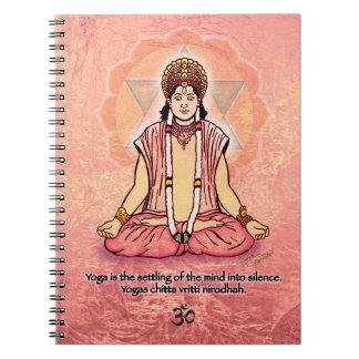 Avatar en la meditación libros de apuntes con espiral