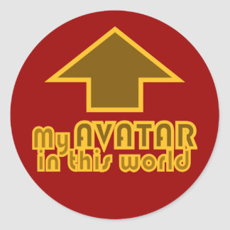 Avatar In This World Arrow Design Classic Round Sticker