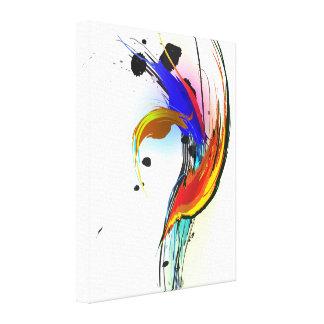 Ave del paraíso abstracta de la salpicadura de la lona envuelta para galerías