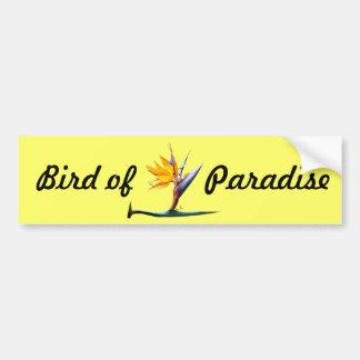 Ave del paraíso pegatina de parachoque