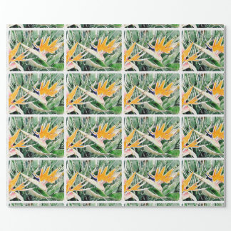 Ave del paraíso hawaiana tropical papel de regalo