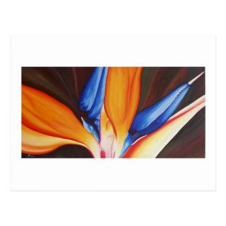 Ave del paraíso - tarjeta del arte tarjetas postales