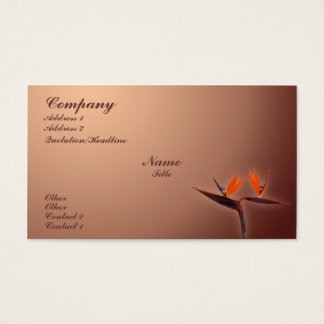 Ave del paraíso tarjetas de visita