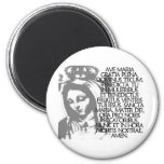 Ave Maria 2 Inch Round Magnet