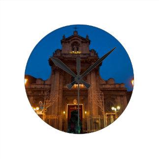 Ave Maria Church in Catania Round Clock