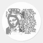 Ave Maria Classic Round Sticker