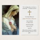 Ave Maria Funeral Sympathy Prayer Card
