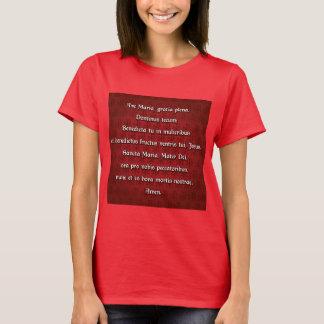 Ave Maria, Hail Mary in Latin T-Shirt