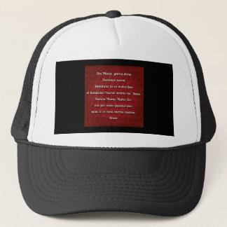 Ave Maria, Hail Mary in Latin Trucker Hat