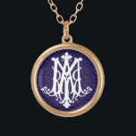 """Ave Maria - Latin for Hail Mary - Necklace<br><div class=""""desc"""">&quot;Ave Maria&quot; means &quot;Hail Mary&quot; in Latin - Catholic monogram necklaces</div>"""