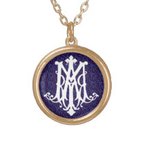 Ave Maria - Latin for Hail Mary - Necklace