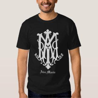 Ave Maria Monogram - Catholic Shirt