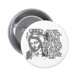 Ave Maria Pinback Button