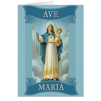 AVE MARIA VIRGIN MARY CHRIST CHILD Rosary Card