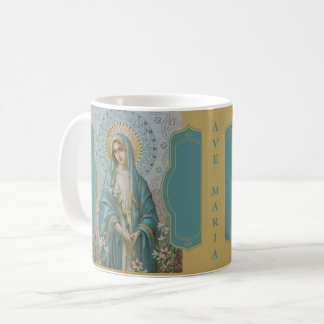 AVE MARIA VIRGIN MARY with LILIES Coffee Mug