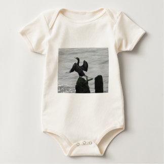 Ave marina negra body para bebé