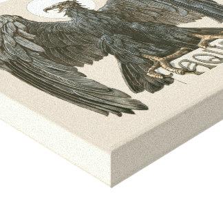 Ave rapaz del vintage, Eagle, Aqila Impresiones En Lienzo Estiradas