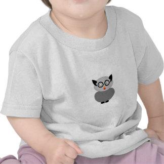 Ave rapaz gris del búho camiseta
