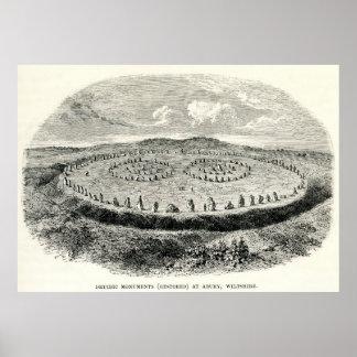 Avebury - henge neolítico póster